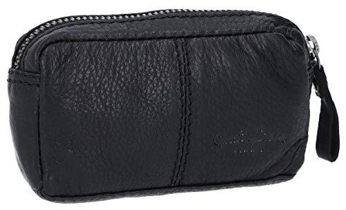 Portafoglio di Gusti Leder studio'Butler' portamonete robusto banconote spiccioli vintage unisex nero 2A66-22-9