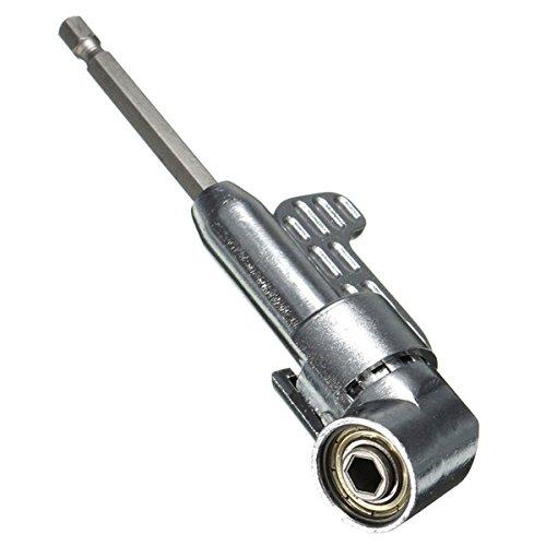 Ils - 1/4 inch zeskant-schroevendraaier bithouder 105 graden hoek verlenging bus houder adapter