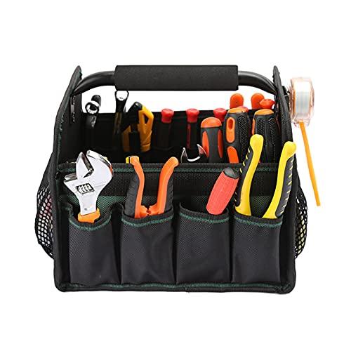 Caja de Herramientas Tote de herramienta Bolsa de mano Pastel de hombro acolchado desmontable Kits de herramientas portátil Portador de herramientas con 7 bolsillos externos Kit de herramientas