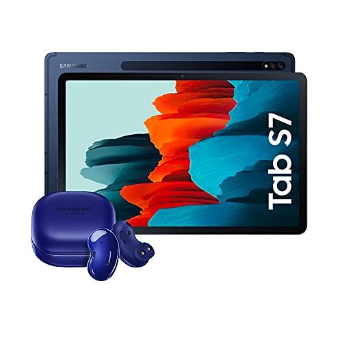 Samsung Galaxy Tab S7 - Tablet Android 4G de 11.0' I 256 GB I S Pen I Color Negro [Versión española] + Samsung Galaxy Buds Azul