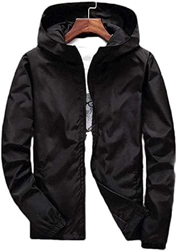 Chaqueta con capucha de moda para hombre con cremallera ligera más chaqueta de tamaño con bolsillos