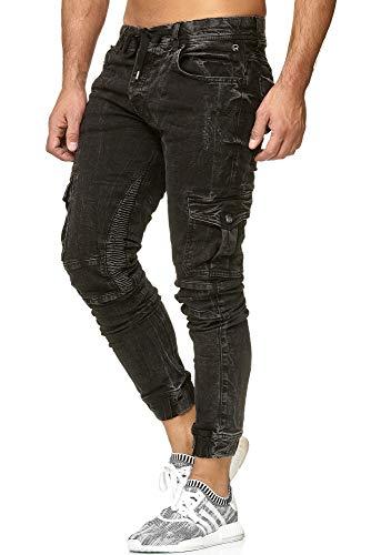 Redbridge Jogpants Jeans Herren Slim Fit Narrow Leg Schwarz M4208 W34 L32