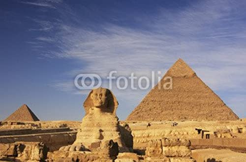 Toile 80 x 50 cm   The Sphinx and Pyramid of Khafre, Cairo, Egypt , Toile