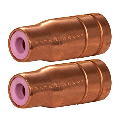 STAHLWERK Original Fülldrahtdüse Gasdüse für Fülldraht Schweißen MIG MAG passend für AK15 Brenner bis zu 200A FLUX gasloses Schweißen Schweißzubehör