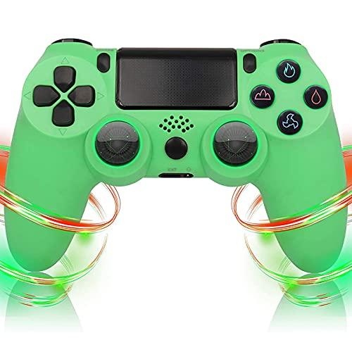 Mando para PS4, Inalámbrico Bluetooth Controlador, con Dual Shock Vibración Turbo Touch Panel y Audio Jack, Wireless Controlador Gamepad para PS 4/Pro/Slim