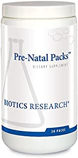Biotics Research Pre-Natal Packs™ – Pre-Natal Nutrition Support. Post-Natal Formula. Includes Omega-3s. Iodine and Folate. Nutritional Needs for Pregnant, Lactating and Women Wishing to Conceive. 30Pk