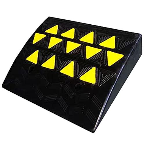 Rampas Rampa Portátil Rampas de remolques para el camino de entrada,Caucho Rampas de coches con Brillante Signo de triángulo amarillo,Silla de ruedas Umbral Rampas 19,3 pulgadas de ancho