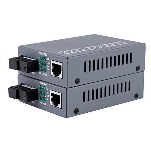 Convertitore multimediale in Fibra, ricetrasmettitore in Fibra con capacità adattiva della Porta Ottica SC a Fibra Singola per la Trasmissione del Segnale per doppino Intrecciato e Fibra