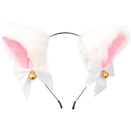Black and Red Cat Ears Anime Ears kitten ears Kitty Ears kitten play ears Cat Ears Huge clipheadband in cat ears Fur Ears