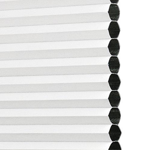 Liedeco® Thermo geplooide gespannen klemdragers / 80 x 130 cm wit (breedte x hoogte) / ondoorzichtig verduisterend ondoorzichtig traploos verstelbaar en energiebesparend / eenvoudige montage binnen zonder boren / 123 gemonteerd / Thermo-plissé gekleurd om te klemmen voor raam in vele kleuren en maten / Klemmfix plissé als zonwering en raamdecoratie binnen / rolgordijnen vouwgordijn lissee jaloezie-accessoires van Liedeco / gemaakt in Duitsland