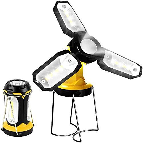 XSYU Linterna de Trabajo Recargable 1200mAh, lámpara de Inspección de 7 Modos, Impermeable Lámpara Camping LED Portátil, para Emergencia, Taller, Automóviles, Actividades Exteriores.