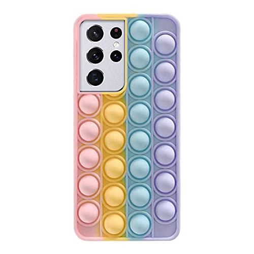 Ikasus - Carcasa de silicona para Samsung S21 Ultra,Sensory Push-Pop Bubble Fidget Toys