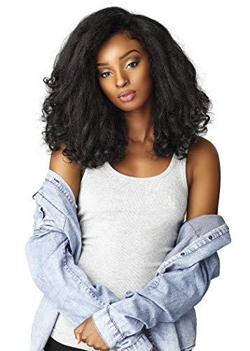 Sensationnel Curls Kinks & CO All Curl Types From 3B-4C Instant Weave 1/2 Half Wig - IW RAIN MAKER (1B [Off Black])