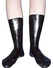 Calcetines de látex goma altos y brillantes en talla 39-42