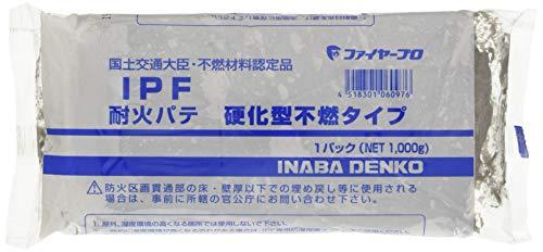 因幡電工 耐火パテ 硬化型不燃タイプ グレー 1000g IPF