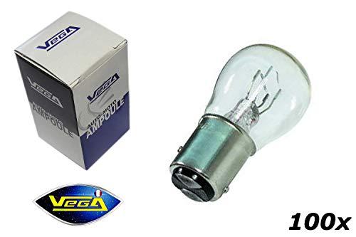 VEGA 100 Ampoules P21/4W BAZ15D Maxi Halogène 12V
