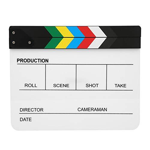 Tablero de claqueta de película profesional, tablero de aplauso de película de...