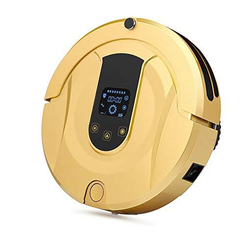 BDwantan Aspiradora robótica, con succión de Potencia máxima de 1800 Pa, Tiempo de ejecución de hasta 120 min, autocargable, silenciosa, para Pisos Duros y alfombras, Dorado (Color : Gold)
