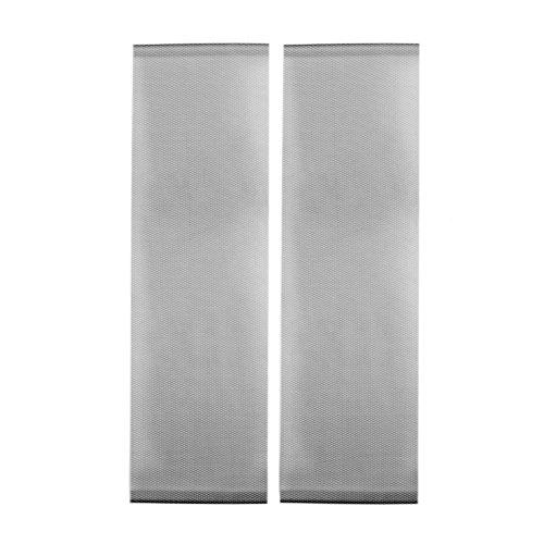 Jarolift Arioso Fliegengitter Tür Balkontür Insektenschutz Fliegenvorhang ohne Bohren, Höhe und Breite kürzbar, 2-teilig, 2 x 75 x 220 cm, Schwarz