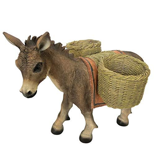OF Gartenfiguren Esel zum Bepflanzen - Dekofiguren für außen - Wetterfest