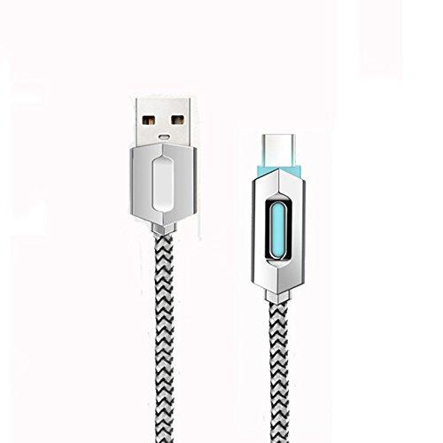 Superior ZRL USB-Kabel C 3 ft (1M) Geflochtene Luminous USB-C auf USB-A 3.0 Ladekabel Sync USB Datenkabel f¨¹r Nexus 6P, Nexus 5-Fach, LG G5, OnePlus 2 und andere Typ-C-Ger?te (Typ C 1 Packung)