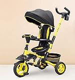 AUTOKS Triciclo para niños 7 en 1, Bicicleta Triciclo para niños, Asiento Reversible con Dosel, para 6 Meses - 6 años, Carga de Peso 35 kg