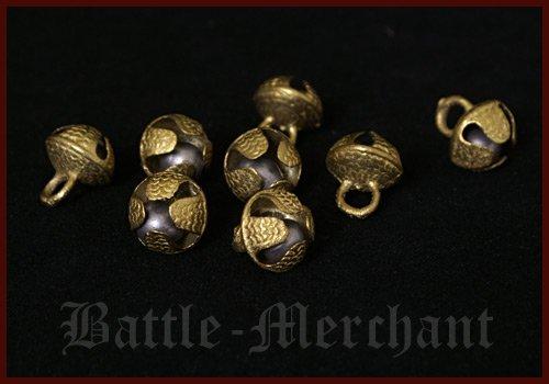 10 stuks klemmen van messing voor schelpband belletjes van messing muziekinstrument LARP Viking middeleeuw.