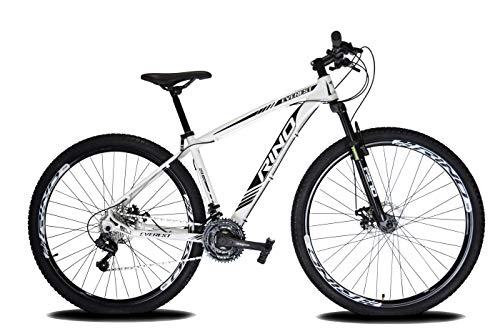 Bicicleta Aro 29 Rino Everest Freio Disco 24v Câmbios Shimano (Branco, 15)