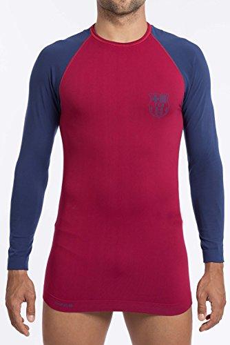 FC Barcelona - Camiseta térmica para hombre (talla de adulto), Hombre, color azul, tamaño S/M