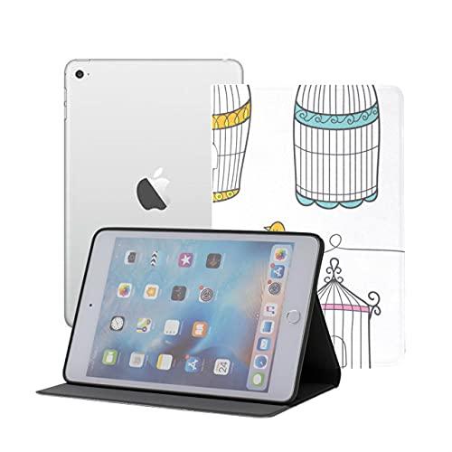 Smart Cover Ipad Mini Hanging Birdcage Ivy Knitted Ipad Cover Mini Ipad Mini 1/2/3 Auto Sleep/wake With Multi-angle Viewing For Ipad Mini 3/ Mini 2/ Mini 1