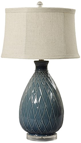 "m.r. Lamp & Shade W-8724 Table Lamp, 27.5"", Midnight Blue"