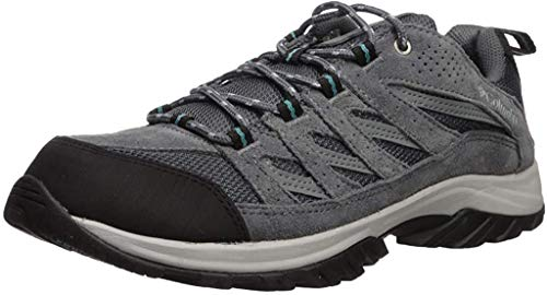 Columbia womens Crestwood Hiking Shoe, Graphite/Pacific Rim, 9 US