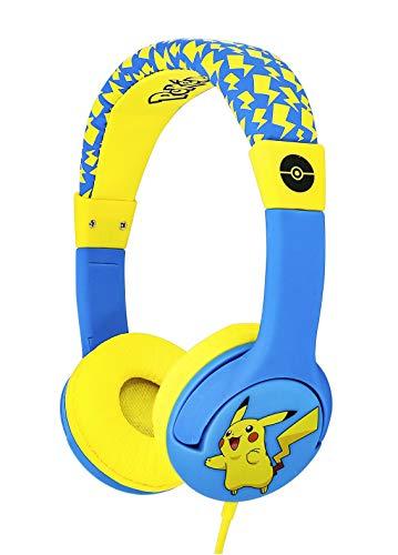 OTL Technlogies Pokemon Pikachu Junior Casque d'écoute, Filaire, pour Enfants (Produit sous Licence Officielle)