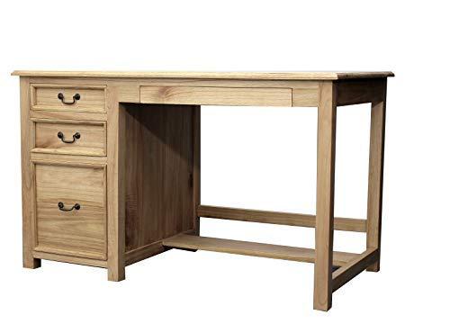 Oxnard Escritorio de madera maciza de teca para escribir Oxnard ...