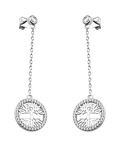SOFIA MILANI Damen Ohrringe Ohrhänger Lebensbaum Silber 20525