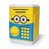 XYBB Hucha Alcancía Grande Caja de Ahorro de cajero automático Seguro Caja de Dinero Musical Hucha electrónica Gato Papel Dinero Efectivo Banco de Monedas minionsA