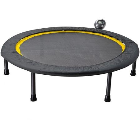Gold's Gym Portable Circuit Trainer Trampoline Ideal for Cardio Workouts - includes monitor for tracking calories burned, time and jump count