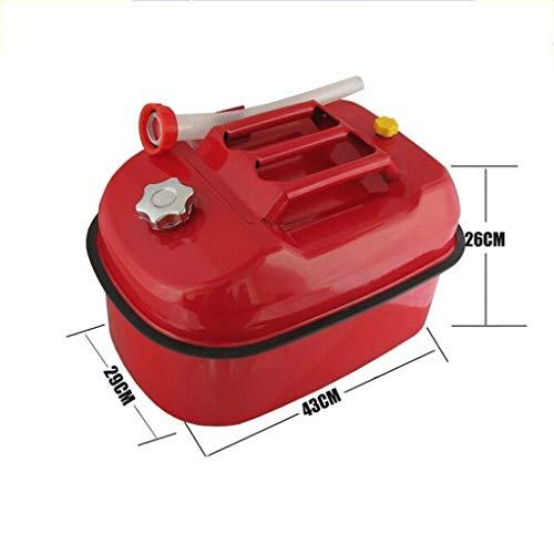 CHQYY Treibstofftank Kraftstofftanks Benzinfass - Dickeres Benzinfass 5 Liter 10 Liter 20 Liter Eisenkübel Auto Motorrad Kraftstofffass Dieselkessel Ersatzkraftstofftank Notkraftstofftank Füllstand 5L