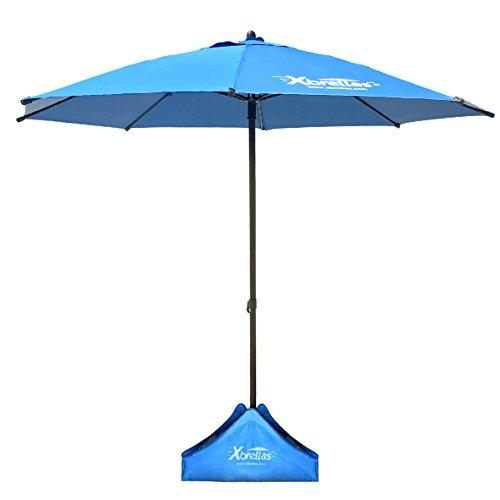 Xbrellas -High Wind Resistant Beach Umbrella – Sand Base - 7.5' Round...