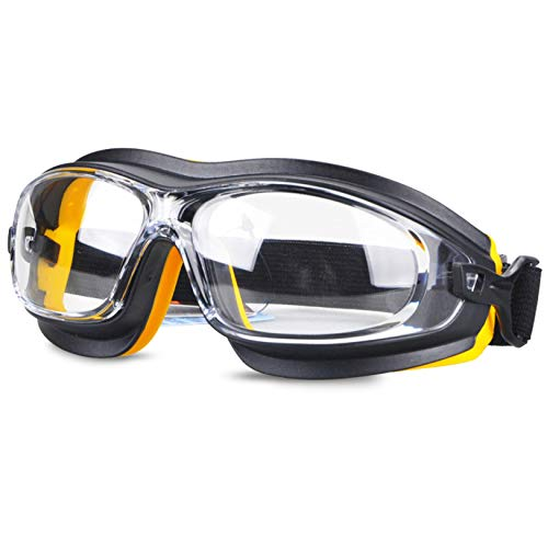 WXJWPZ Gafas Protectoras Trabajo,AdjustablelacombinacióNperfectade Gafas De Seguridad Y Gafas De para Industria,Deporte,Laboratorio