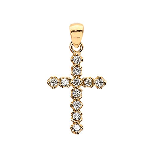 Elegant Diamond Cross Pendant - 4