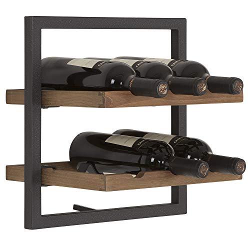 DTP Import Winemate - Botellero de Pared (6 Botellas, Madera)