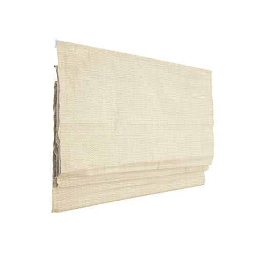 Victoria M. Ivora Estor Plegable, Cortina Plegable paqueto, 120 x 240 cm, Crema Estructurado