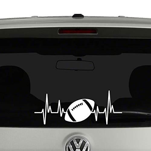 SUPERSTICKI Herzschlag Heartbeat American Football 25cm Aufkleber,Autoaufkleber,Sticker,Decal,Wandtattoo, aus Hochleistungsfolie,UV&waschanlagenfest,