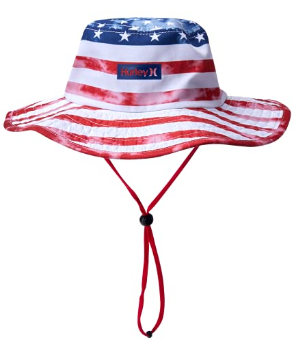 Hurley Men's Vagabond Bucket Sun Hat, Size Small-Medium, White