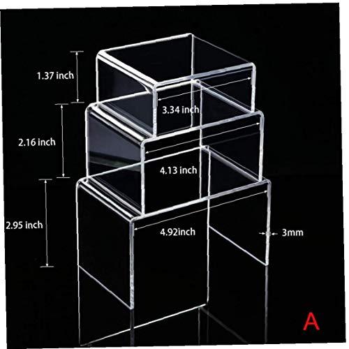 Case Cover 6pcs Transparent Acrylausstellungsstand Ausstellungsstand Erhöhen Regalböden Vitrinenbeleuchtung Ist Display Store-Ausstellungsstand zufällige Farbe