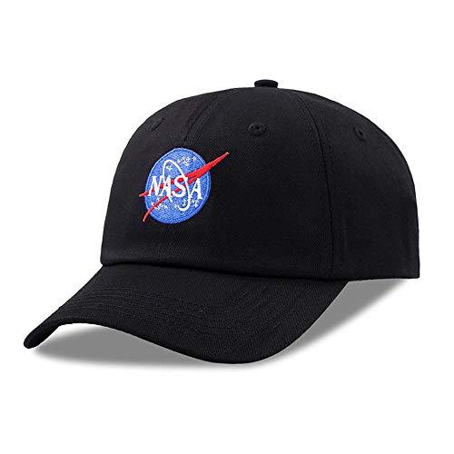 YXACE Gorra De Béisbol De La NASA Informal Sombrero De Sol Calle Cap Wild Inconformista Ajustable Black
