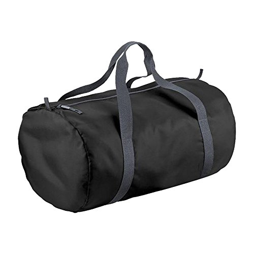 BagBase - Bolsa cilíndrica impermeable 32 litros (Talla Única/Negro/Grafito)
