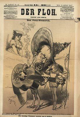 Kunstdruck Don Juan Bismarck Italia Gitarre Umwerbung Italiens Grätz K&K Der Floh 0467