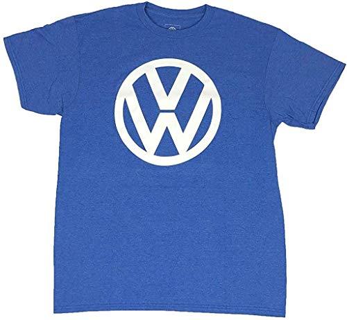VW Volkswagen Original Logo Tee Retro Car Men's T Shirt (Medium) Blue
